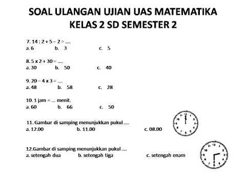MATEMATIKA KELAS 2 SD PDF