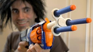 NERF WAR: FIDGET SPINNER TOY! thumbnail