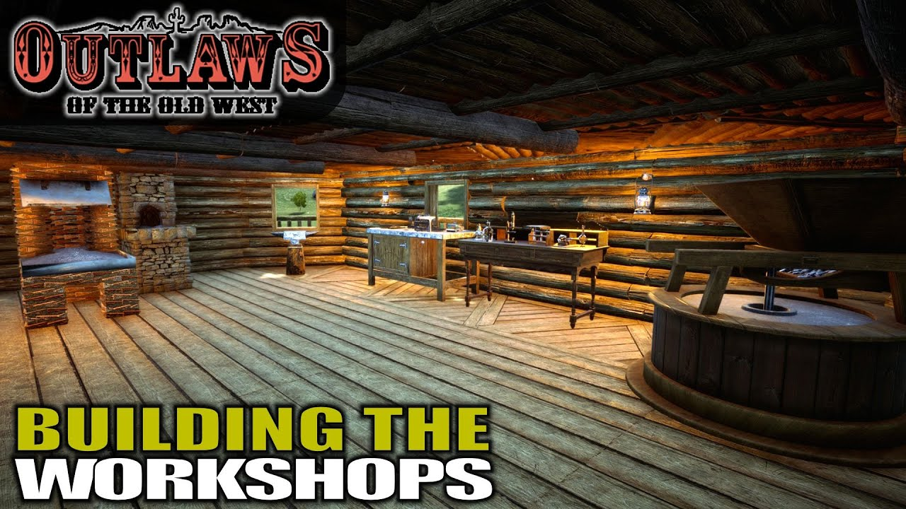 ORGANIZING AND BUILDING MY CRAFTING ROOM   Outlaws of the Old West    Gameplay   S01E06