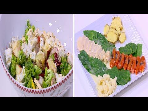 دجاج بالسبانخ و فيلوتيه الدجاج - سلطة الجبنة القريش و التفاح : طبخة ونص حلقة كاملة