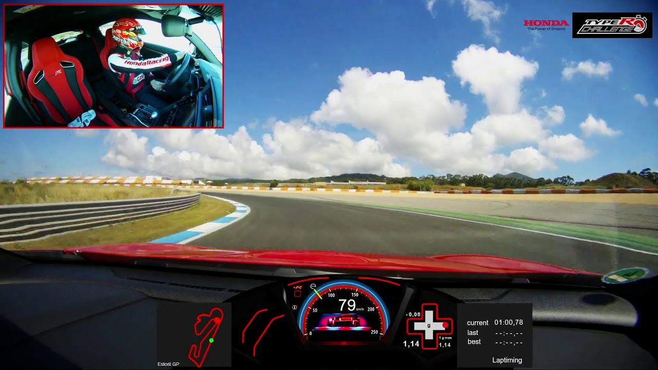 Type R Challenge Estoril - lap record on board with Tiago Monteiro