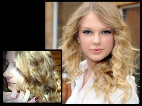 taylor swift curly hair tutorial