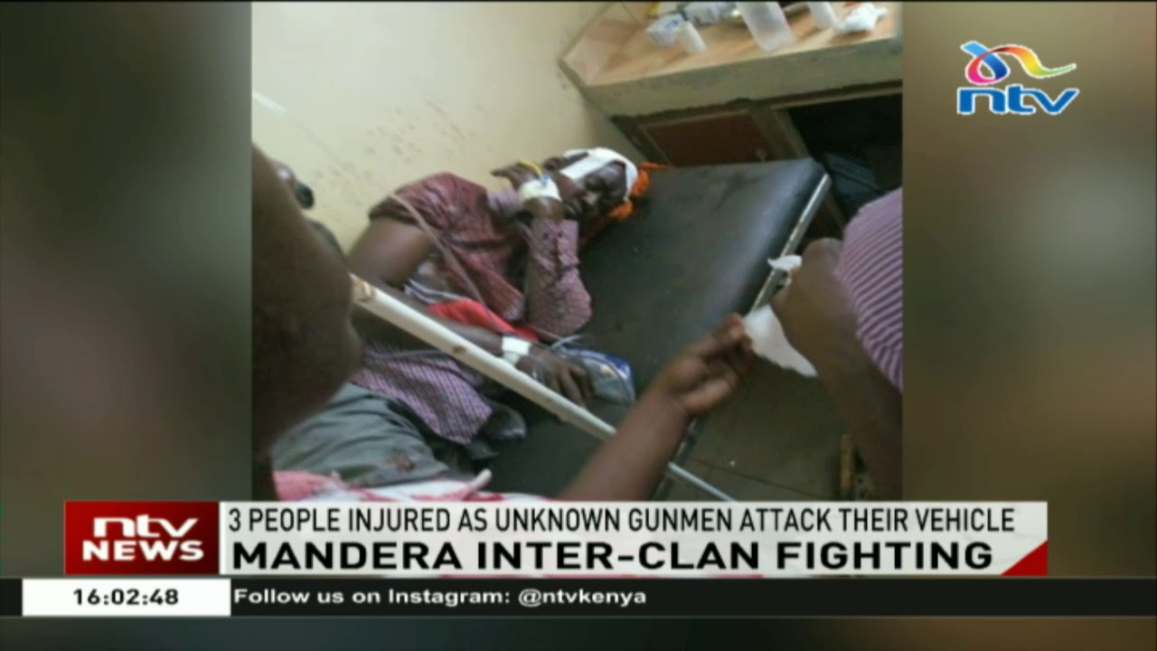 3 people injured in Mandera county as unknown gunmen attack their vehicle