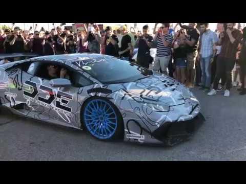 Crazy Loud Lamborghini Huracan Ace Spade Rally Cars Youtube