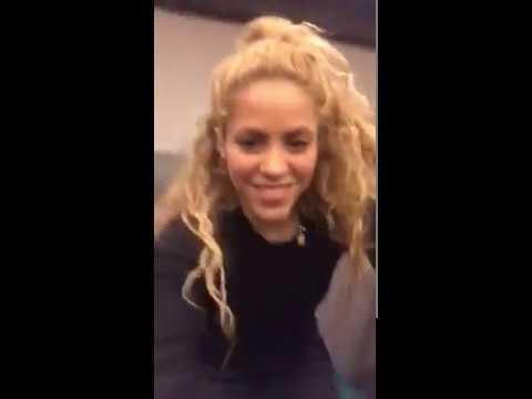 Así celebró Shakira su nuevo Grammy