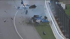 IndyCar Series 2017. Indy 500. Jay Howard & Scott Dixon Horrifying Crash (All Angles + Interviews)
