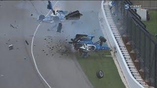 IndyCar Series 2017. Indy 500. Jay Howard & Scott Dixon Horrifying Crash (All Angles + Interviews)
