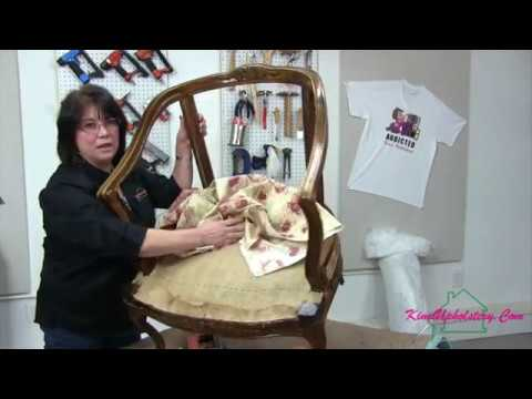 How To Upholster A Barrel Back Chair Part 1