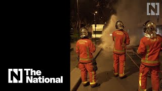 Lockdown tensions bubble over in Paris suburbs