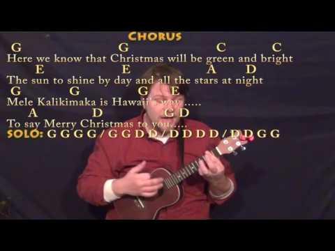 Mele Kalikimaka (Christmas) Ukulele Cover Lesson in G with Chords/Lyrics