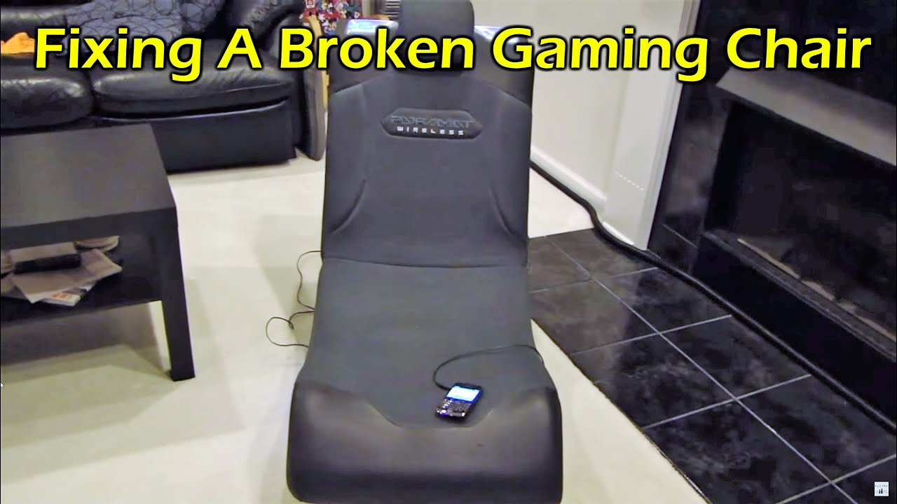 Zeus Thunder Ultimate Gaming Systems Chair Black And White Fixing A I Picked Up At Yard Sale Youtube