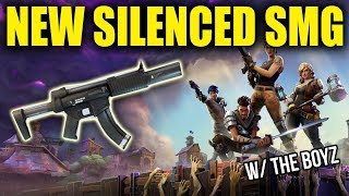 NOUVEAU SILENCED SMGS! GETTING W's WITH THE BOYZ! - Fortnite Bataille Royale