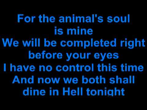 Disturbed- The Animal (Lyrics on Screen)