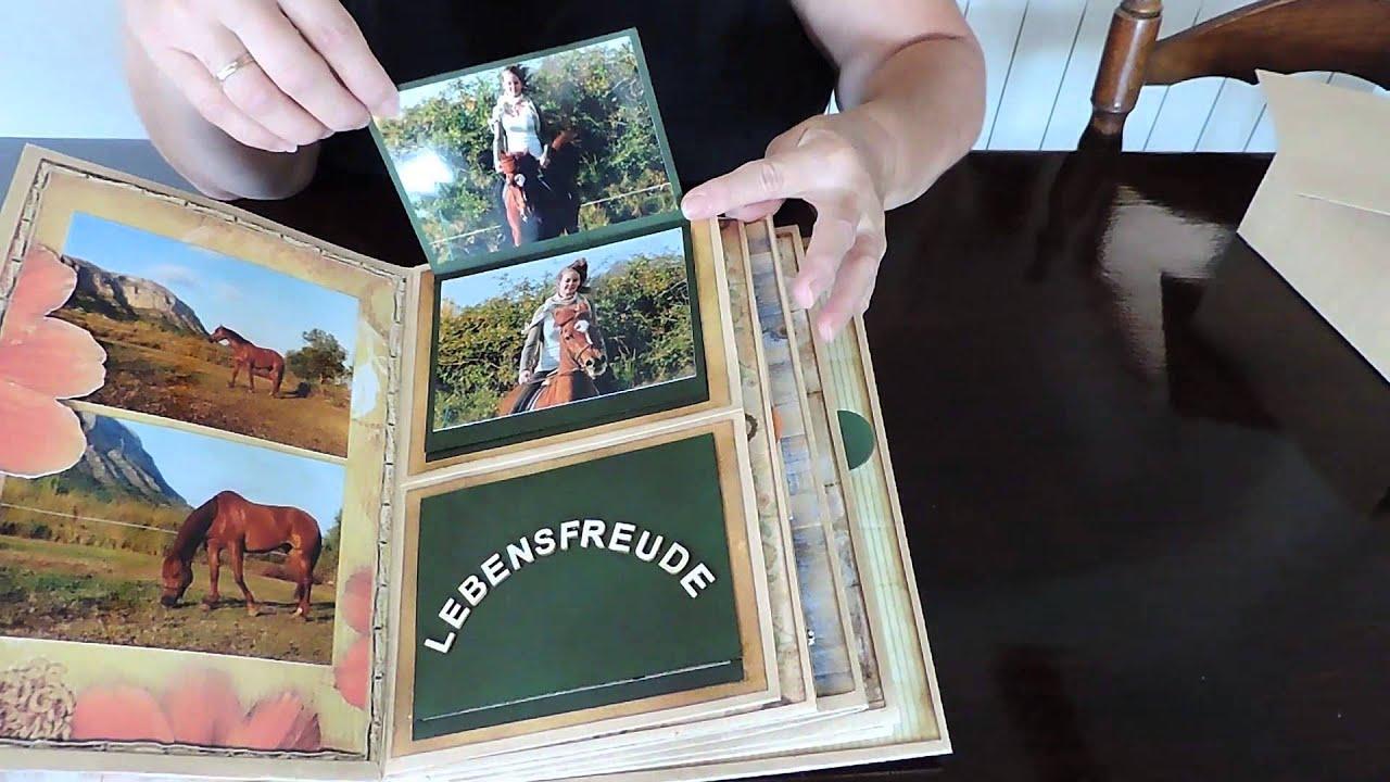 Scrapbook ideas abc album - Scrapbook Mini Album Horse Riding Memories