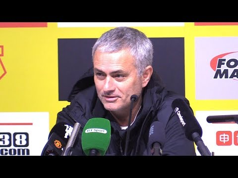 Watford 2-4 Manchester United - Jose Mourinho Post Match Press Conference - Premier League #MUNWAT