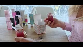 распаковка кремы по уходу за кожей лица