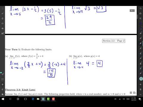 somali Calculus 1 darsiga 4 Limits of Linear Functions
