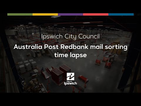Australia Post Redbank Mail Sorting Time Lapse
