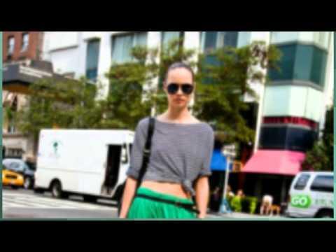 С чем носить зеленую юбку?