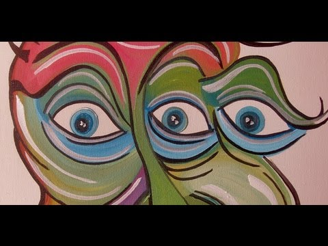 3 EYED MONSTER speed art Painting by RAEART