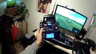 Turnigy 9XR on PhoenixRC simulator