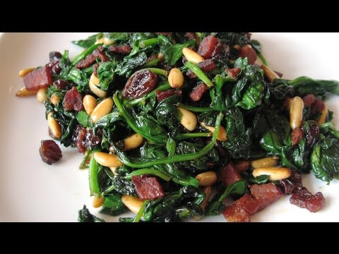 Warm Spinach Salad with Bacon & Pine Nuts | RECIPES MADE EASY | HOW TO MAKE RECIPES