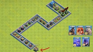 COC All Troops! Who Can Survive This Difficult Trap On COC? Trap VS Troops #coco6  Chip GamePlays
