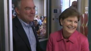 Raw: Kaine Makes Campaign Breakfast Stop in NH