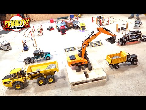 LOADING WARS - NEW PENALTY! Semi Truck Challenge: FORKLIFT FIGHTS! (s2 e20) | RC GAME SHOW!