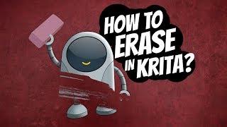How to erase iฑ Krita