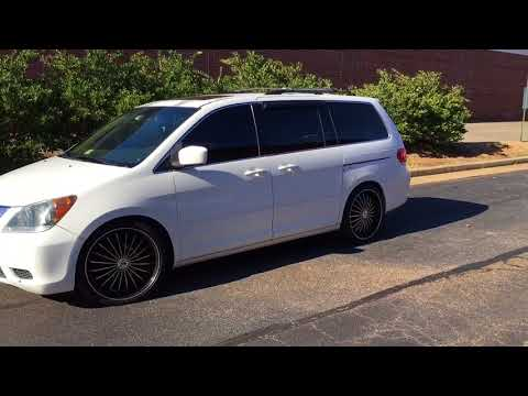 "RIMTYME RICHMOND 2008 Honda Odyssey sitting on 22"" Velocity Rims paired with Lexani 255/30/22 tires"