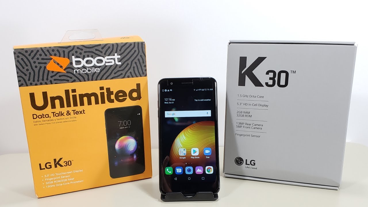 LG K30 Unboxing And First Boot Up (Boost Mobile) HD
