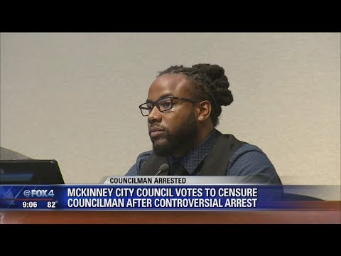 City council votes to censure McKinney councilman after controversial arrest