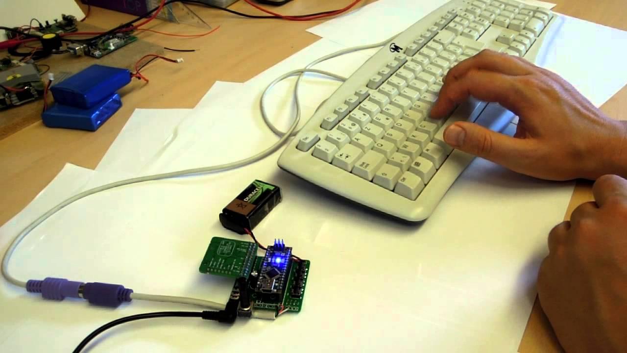 Arduino nano ps keyboard synth youtube