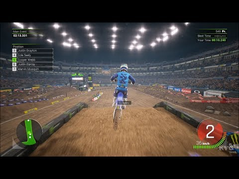 Monster Energy Supercross 2 - St. Louis (The Dome At America's Center) - Missouri Gameplay HD