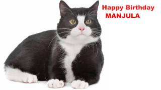 Manjula  Cats Gatos - Happy Birthday