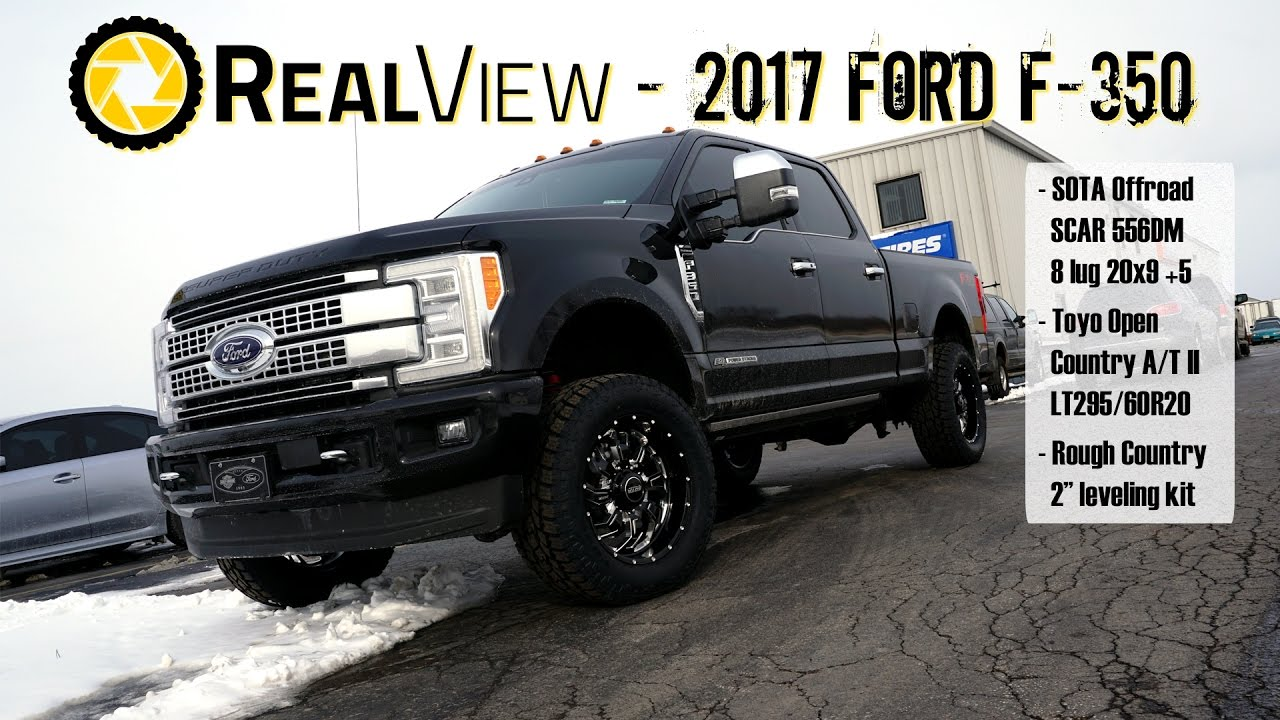 "RealView - Leveled 2017 Ford F-350 w/ 20"" SOTA Offroad ..."