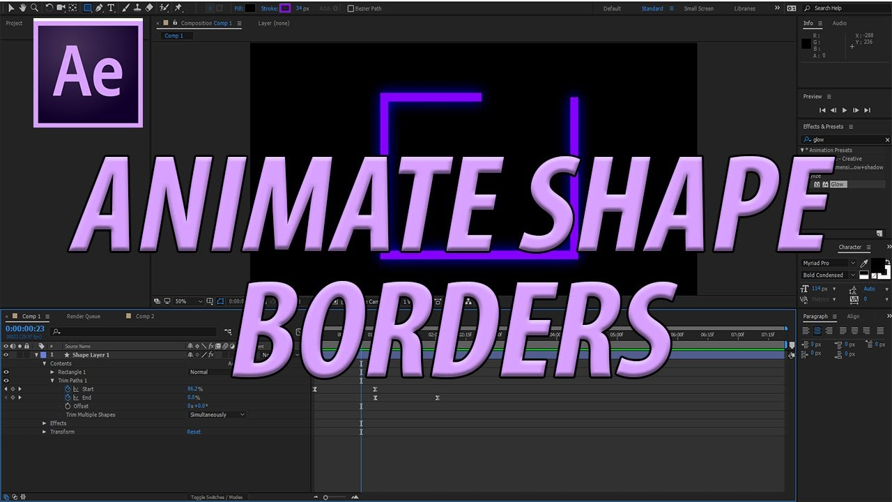 How to Animate Shape Borders in Adobe After Effects CC