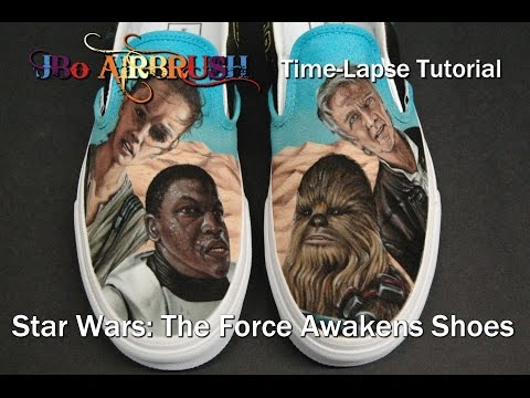 How To Airbrush Shoes Tutorial
