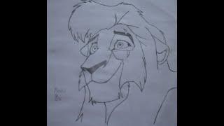The Lion King - Drawing Kovu