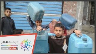 """أهالى """"حسين عمرو"""" بالبحيرة يشكون انقطاع المياه: نفسنا نشرب مياه نظيفة"""