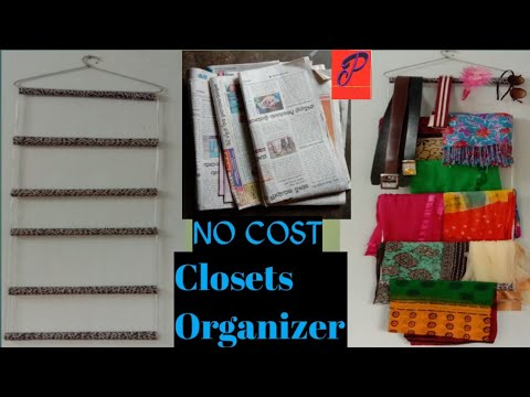 DIY/Closet organizer/How to make Closets organizer/paper Clothes organizer/Closets organizer idea😜