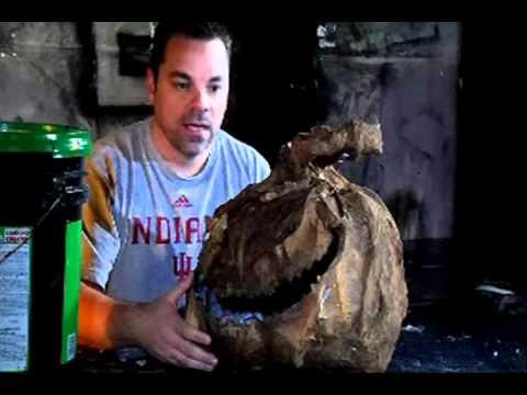 Gutting / Skinning / Sealing -- Part 7 of 8 - Paper Mache Pumpkin Head How-to