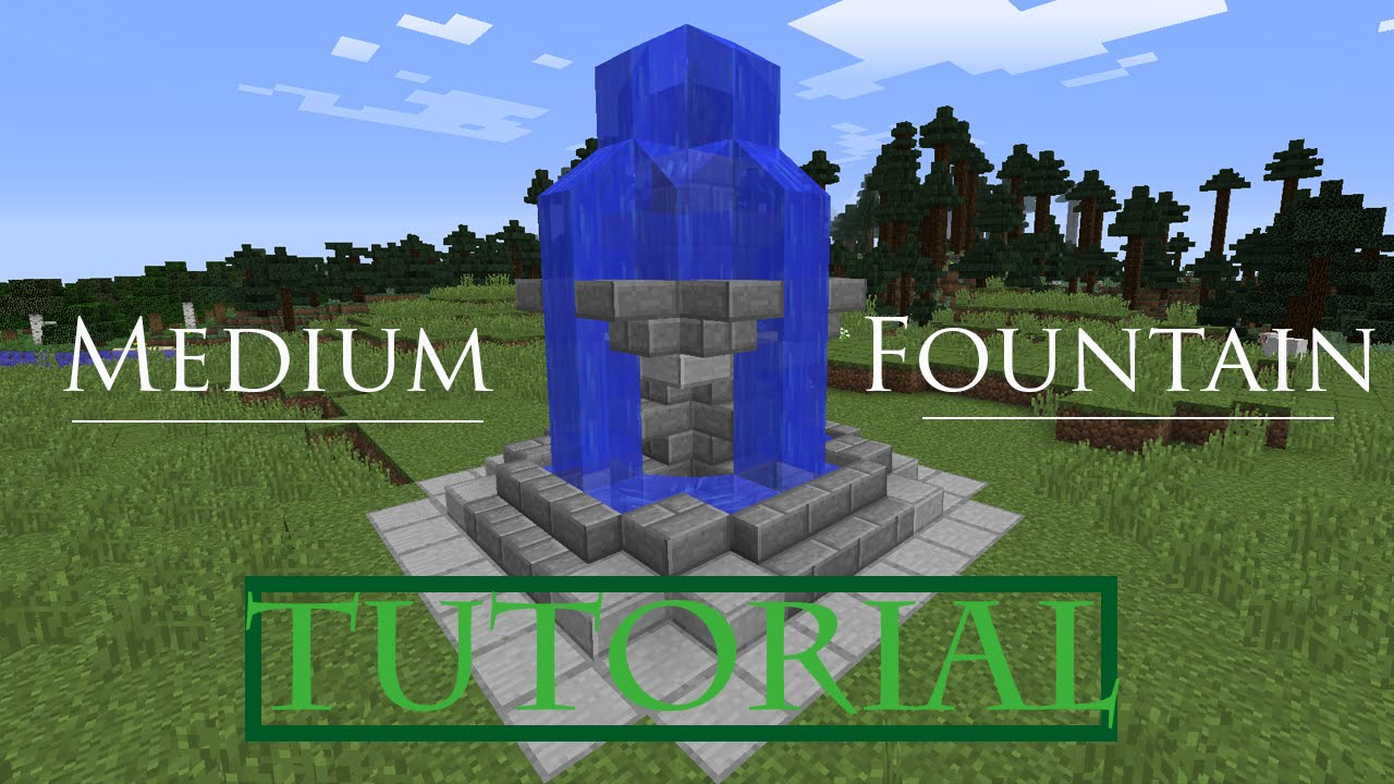 minecraft how to build a modern fountain