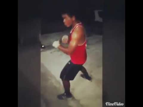 Nauru  boxing  sparing at the emergency room gym