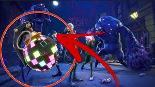 FORTNITE-oque acontece se jogar a granada de dança nos monstros?
