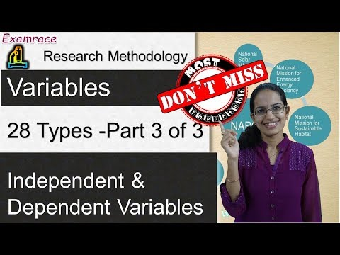Research Methodology (Part 3 of 3): 28 Types of Variables - Independent & Dependent Variables