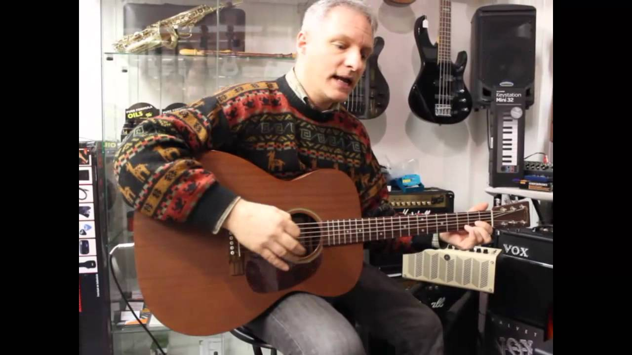 Guitar Review: Martin J-15 + K&K pure western mini - YouTube