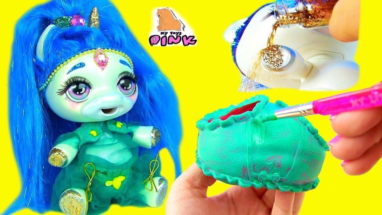 DIY Пони Единорог + Джин на 2 МИЛЛИОНА Custom Baby Unicorn Poopsie + Shimmer and Shine Своими Руками