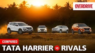Tata Harrier vs Hyundai Creta vs Mahindra XUV500 vs Jeep Compass | Comparo | OVERDRIVE